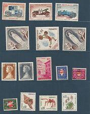 Monaco lot de 42 timbres neufs et oblitérés  anciens  /T89