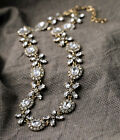 N764 Betsey Johnson Brides Crystal Gem Wedding Accessories Cocktail Necklace US