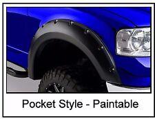 Ford F150 2004-2008 Pickup Fender Flares Rivet Pocket Style Smooth Set Bolt On