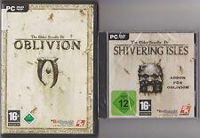 The Elder Scrolls IV 4 Oblivion gioco principale + Addon Shivering Isles raccolta PC