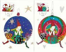 Aland Island Christmas Maxi Cards Children Pictures FDC Aland Finland 2009