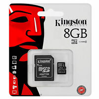 Kingston 8GB Micro SD HC Memory Card Adapter For Nintendo Wii U Gaming Console