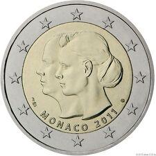 """Monaco 2011 2 Euro Sondermünze """"Hochzeit Fürst Albert II. u. Charlene Wittstock"""""""