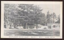 Postcard SACO Maine/ME  Mayflower Motel Motor Court view 1950's