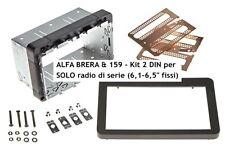Mascherina kit autoradio Doppio 2 DIN Alfa 159 e Brera dal 2005 con autoradio