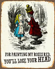 Alice In Wonderland queen off head - Vintage Art Print Poster - A1 A2 A3 A4 A5