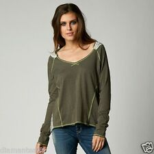 $39 Fox Racing Women's Poise Long Sleeve Tee - Titanium sz M