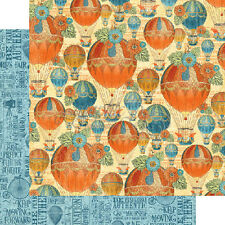 Graphic 45  2 sheets, World's Fair Collection, Balloon Bouquet