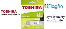 8GB USB Unidad Flash Memoria Portátil Pen Drive-Blanco-Toshiba TransMemory