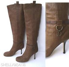CHRISTIAN DIOR QUILTED CANNAGE SLOUCH Boots KNEE High Tall Heels 40 9.5 9 $995