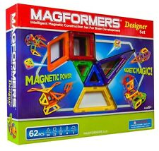 Magformers Designer Set 62pc Magnetic Construction Building Creativity Magnets