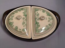 Divided Serving Dishes with Wood Serving Tray (Made in England)