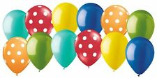 12pc Carnival & Circus Inspired Polka Dot Latex Balloon Party Decoration Primary