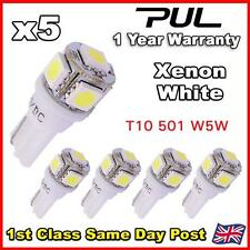 5 X 5 SMD LED T10 W5W 501 PUSH WEDGE SIDE LIGHT BULB 360 HID WHITE