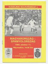 Original PRG     WM Qualifikation   11.10.1989     UNGARN - SPANIEN  !!  SELTEN