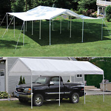 10x20x8 ShelterLogic 8 Leg Canopy With Extension Kit Carport Party Tent 23530