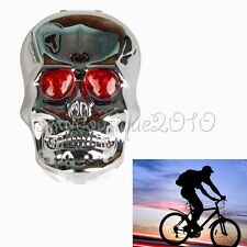 Sporting Bike Bicycle Cycling Skull Rear Tail Light Warning Lamp Reflectors LED