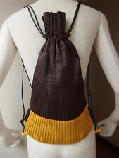Rare! me ISSEY MIYAKE Lady's Pleats Unique Purse Knapsack Bagpack Bag Backpack