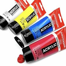 "Royal Talens - ""Primary"" Set of Amsterdam Acrylic Paints - 4 x 75ml Tubes"