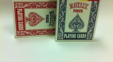 Maverick Poker (12 pack) Red & Blue Playing Cards