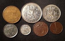 Netherlands Coin Lot - Full Set of Pre-Euro Dutch Coins - Free Shipping!!!!