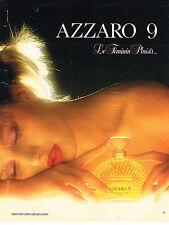 PUBLICITE ADVERTISING 114  1984  AZZARO 9   parfum femme