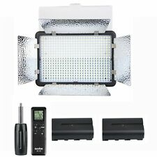 Godox LED500LRC Camera Video Light Lamp 3300-5600K + 2x 2200mAh Batteries Kit