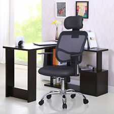 Ergonomic Mesh High Back Executive Computer Office Chair Black with headrest0