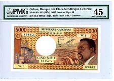 Gabon ... P-4b ... 5000 Francs ... ND(1974) ... *XF-AU* ... PMG 45