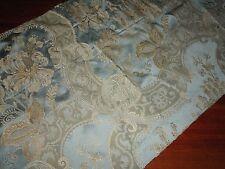 CROSCILL NAPOLEON NICOLLETTE BLUE AQUA & GOLD PAISLEY TAILORED VALANCE 16 X 90