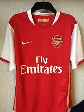 Arsenal Home Shirt 2006 2007 2008 (Fabregas, Nasri, Van Persie) – Size Medium