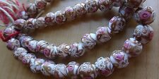 Vintage  Antique  Wedding Cake VENETIAN Murano Glass Beads  8-9MM 75 pc 4 Neck