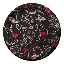 8 x Hen Party Paper Plates Small Plates Bridal Shower Lips glasses bride to be
