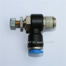 """5pcs Air Speed Control One-way throttle Tube OD 8mm To 1/4"""" Pneumatic Fitting"""