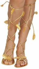 *Ladies Fancy Dress Costume Gold Sandals Greek Roman Egyptian Cleopatra Goddess*