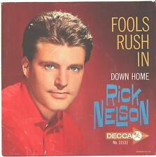 RICK NELSON--PICTURE SLEEVE ONLY--(FOOLS RUSH IN)---PS--PIC---SLV