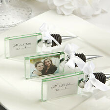 50 - Photo Place Card Holder Wine Bottle Stoppers Wedding Favor