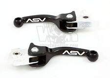 ASV F3 Brake & Clutch Lever Set Short Black KTM 450 EXC / 525 EXC 1998-2006