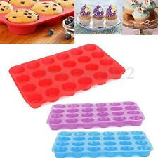 24 Cavity Silicone Mini Muffin Cup Cookies Bakeware Cupcake Pan Soap Tray Mould
