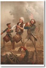 Yankee Doodle - Revolutionary War Fife & Drum - New US History Print POSTER