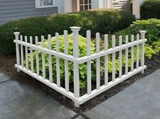 Garden Yard Entrance White Corner Picket Accent Fence No Dig Weather Resistant