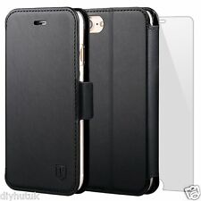 TANNC iPhone 7 Plus Case Flip Leather Wallet Phone Cover+Screen Protector (E142)