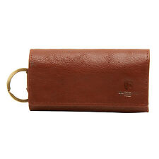 UNDERWOOD & TANNER - COGNAC KEY CASE/WALLET IN FULL GRAIN LEATHER