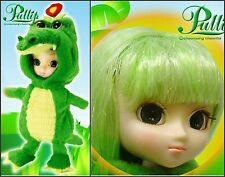 "Little Pullip 5"" Doll Aggonya Anime Alligator NRFB Big Eye Green Hair Retired"