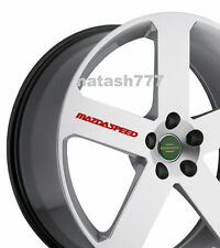 4 - MAZDASPEED Decal  Sticker Racing wheels rims MAZDA sport  emblem logo Red