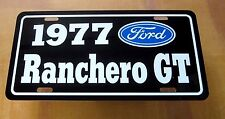 1977 Ford Ranchero GT license Plate tag 77 351 cleveland 460 400 the pickup car