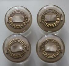4 champagne brown button greek key centre button glitzy designer style 28mm