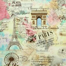 Timeless Treasures Paris Chic & Shabby April in Paris C9661 Pastel, BTY