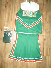 "NEW Cheerleader Uniform Outfit Fun Costume + Briefs Top 34"" Skirt 28"" EAST"