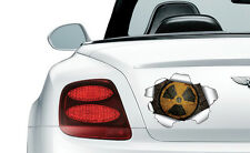 COOL TORN METAL EFFECT RADIOACTIVE - vinyl wall, car, decal sticker